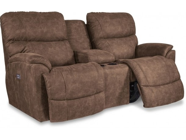 Trouper La-Z-Time Reclining Console Loveseat