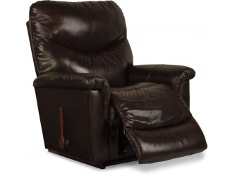 James Rocker Recliner - Chocolate Brown Leather