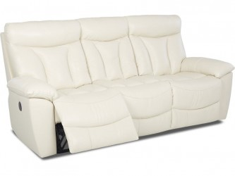 Deluxe Reclining Leather Sofa